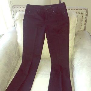 Calvin Klein skinny flair jeans.